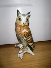Gorgeous Long Eared Owl Porcelain Figurine ~ Karl Ens ~ 7588 ~ Excellent