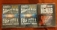 Crisis Four(used) and Firewall (both sealed) by Andy McNab (Audio cassette 1999)