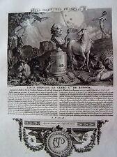 B3-22 Gravure illustres français par Ponce dessins de Marillier - Buffon