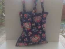 Cath Kidston  Double Handled Cotton Book  Carry Bag Forest Bunch Navy
