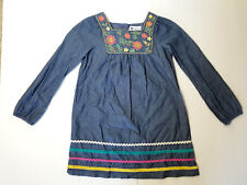 LS Denim Style Embroidered Dress by Willow Blossom Young Girls' SZ 6 EUC