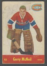 1955-56 Parkhurst Montreal Canadiens Hockey Card #52 Gerry McNeil