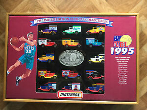 MATCHBOX 1995 LTD ED NBL CLUB BOXED SET 14 x MB38 IN DISPLAY CASE No. 512/2000