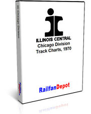 Illinois Central Chicago Division track chart 1970 - PDF on CD - RailfanDepot