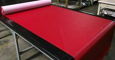"5 YARDS CLASSIC RED FAUX LEATHER AUTO UPHOLSTERY FABRIC VINYL 54""W PLEATHER"