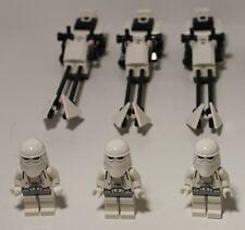 2017 LEGO Star Wars Hoth Set 3 Snowtrooper Minifigs Speeder Bike 8084 Christmas