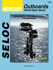 SELOC MERCURY OUTBOARD MOTOR ENGINE REPAIR MANUAL #1404 1965-89 1,2 cyl 2 STROKE