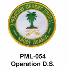 """OPERATION D.S.  Embroidered Military Large Patch, 4"""""""