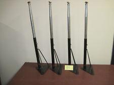 """Lot 4 Vintage Black Metal Table Legs 27-1/2"""" Industrial School Desk Hairpin"""