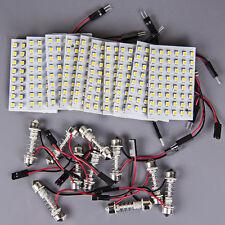 10x Warm White Festoon 31mm~42mm 36mm LED 48SMD Panel Interior Dome Map RV Light