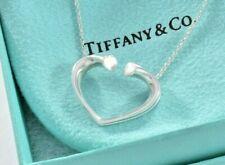 """Tiffany & Co Plata Paloma Picasso Grande Tenderness Colgante Corazón 17"""" Collar"""