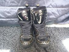 OSIRIS BLACK AND GOLD UPTOWN GIRL LEATHER BOOTS UK 5