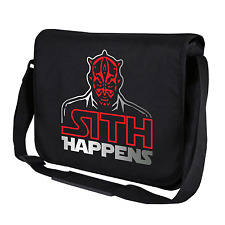 Sith Happens Darth Maul Star Wars Satire Motif Fun Shoulder Bag Messenger Bag