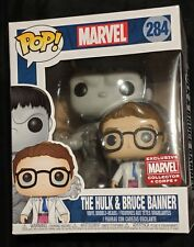 Brand New Funko Pop! #284 THE HULK & BRUCE BANNER *Marvel Collector Corps Excl*