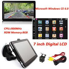 "7"" Car Bluetooth Navigation WinCE System HD 3D GPS FM + Rearview Backup Camera"
