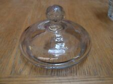 ANTIQUE TRADITIONAL APOTHECARY'S JAR FACETED CUT GLASS LID ONLY