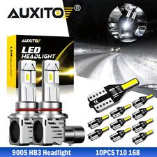 2x 9005 LED Headlight Bulb White Lamp 6500K High Low Beam  & T10 CANBUS Interior