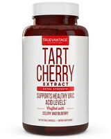 Extra Strength Tart Cherry Extract 1500mg Plus Celery Seed and Bilberry Extract