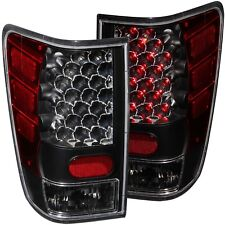 Set of Pair Black Housing LED Taillights for 2004-2015 Nissan Titan