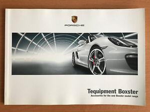 Porsche Boxster Tequipment Accessories Brochure 2012