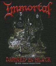 "Immortal "" Damned in Black "" Parche/parche 600124 #"