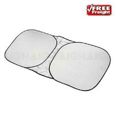 Car Sun Shade Front Interior Window Visor Reflex Spring Loaded Large One Piece