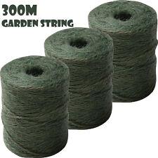 300M GARDEN STRING JUTE TWINE GREEN MAXI PARCEL GARDENING 3 ROPE BALL LINE S30