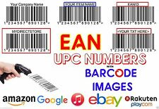 1500 UPC EAN Codes Certified Numbers Barcodes For Amazon Ebay Lifetime Guarant