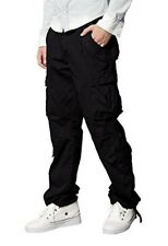 "Men Retro Cargo Trousers Chinos Trousers W32"" regular High Quality Black RRP £38"