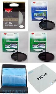 Kenko - Tokina 72mm 4 Filter Basics Kit - UV, CPL, ND-4, ND-8 & Filter Wallet