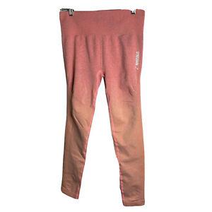 GymShark Adapt Ombre Seamless Leggings M Red Orange