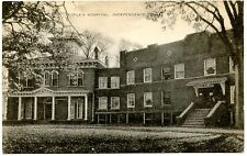 B7077 People's Hospital Independence IA Old Black & White Postcard Publ. Artvue