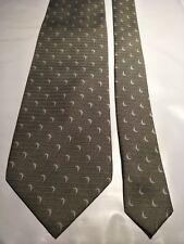 Firenze Men's Tie in a Textured Light Green with Dolphins in an Abstract Pattern
