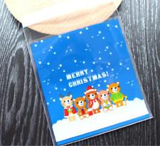 20 Piezas Galletas dulces Galletas Adhesivo de Navidad de plástico bolsas de regalo 10 cm B035