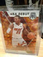 2019-20 Panini Mosaic NBA Debut Orange Prizm Kendrick Nunn #268 Rookie