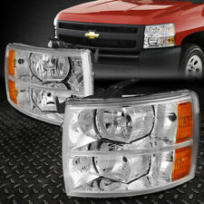 FOR 07-14 CHEVY SILVERADO CHROME HOUSING AMBER CORNER HEADLIGHT REPLACEMENT LAMP