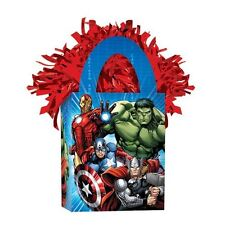 Marvel Vengadores Capitán América Iron Man Thor Globo Helio Metalizado Peso Tote