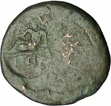 Ancient Greek City 200BC RIVER GOD COUNTERMARK Authentic Coin RARE i52599