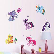 NUOVO My Little Pony Parete in Vinile Grande Riutilizzabile 7 ADESIVI Twilight LUNA Murale in Vinile