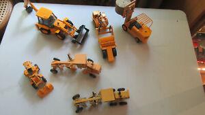 Lot de 6 miniatures JOAL métal engins de chantier