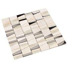 Glasmosaik Fliesen Mosaik Metallmosaik Trapezium Beige Creme Marmor