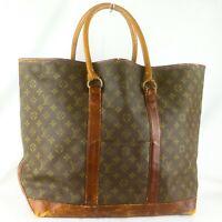 LOUIS VUITTON SAC WEEKEND GM Vintage Tote Bag Purse Monogram M42420 Brown