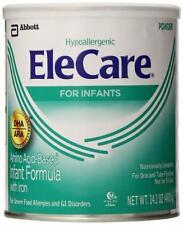 Case of 6- EleCare 55251 DHA/ARA Infant Formula Hypoallergenic Powder - 14.1 Oz
