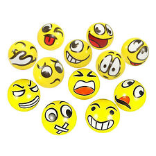 Fun Emoji Face Squeeze Balls- 12 ~ 3' Stress Relax Emotional Toy Balls ~ Fun.