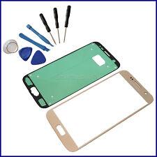 Samsung Galaxy S7 G930F Frontglas Display LCD Front Ersatz Glas Scheibe gold