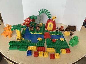 Lego Duplo Vintage 2604 Dinosaur World 1997 Huge Lot Set Family Mama & Baby Dino