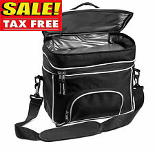Double Compartment Cooler Insulated Lunch Bag Food Container Lunch Box Men Women