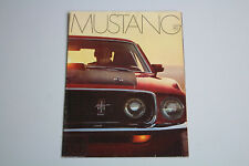 Ford Mustang Prospect Brochure Brochure English 1969