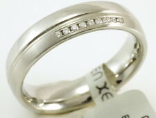 XEN Design Ring Edelstahl Brillant Gr 54  mit 9 Brillianten TW vs 0,045 ct