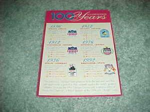 1996 Atlanta Olympics 100 Years of History Cereal Box Back